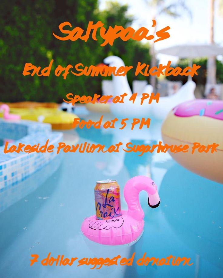 Flyer for September 2020 BBQ
