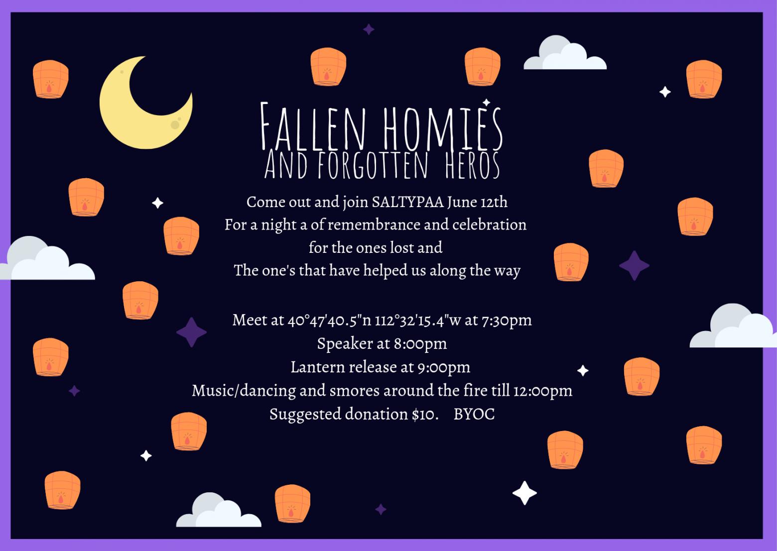 Fallen Homies and Forgotten Heroes Event 6/12/21